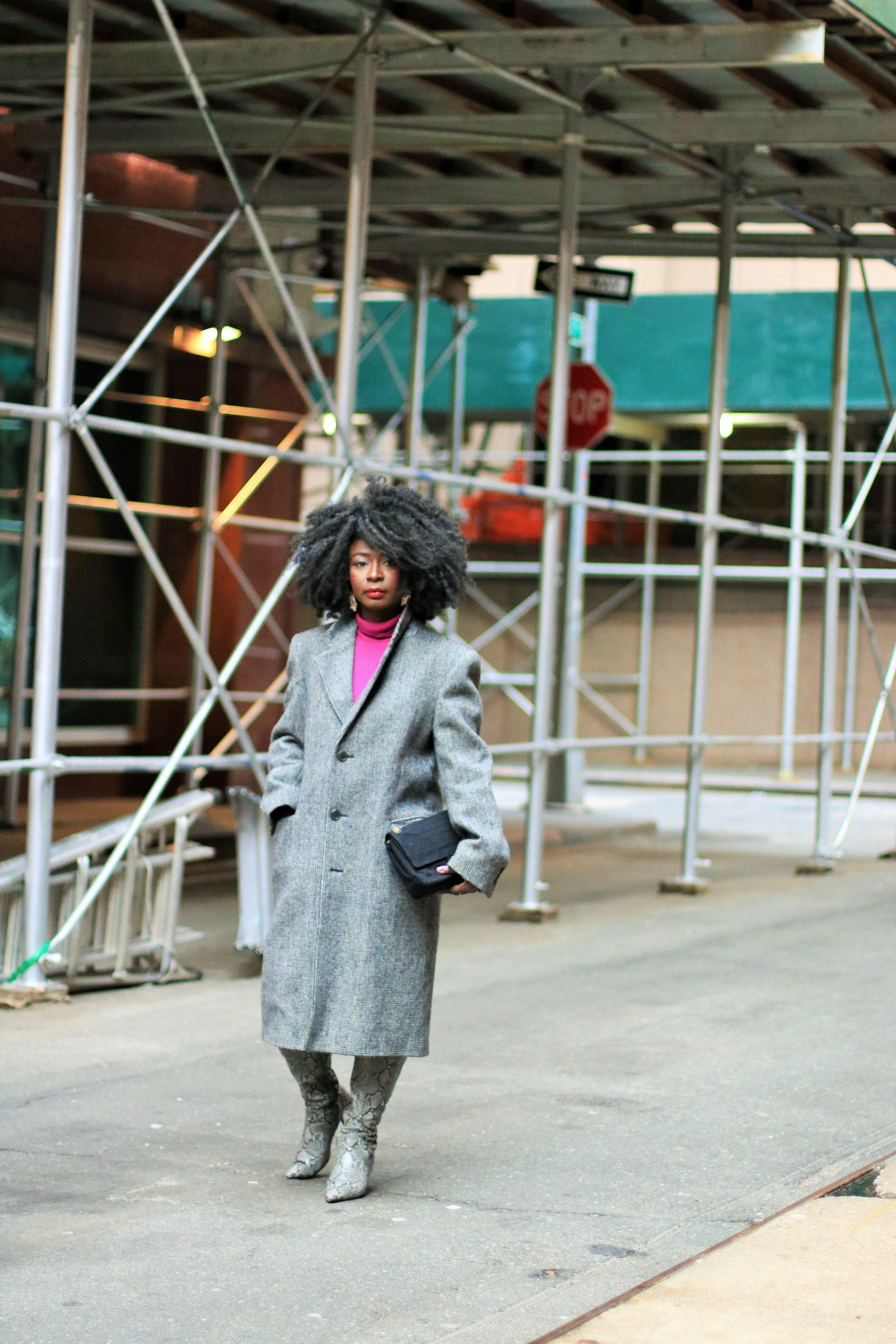 Menswear-inspired-plaid-coat-for-women