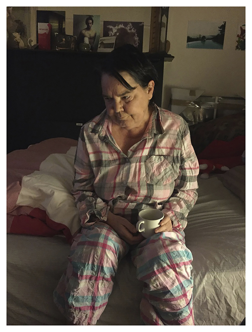 Sherie (Pajamas), iphone photograph on paper, (January 2017)