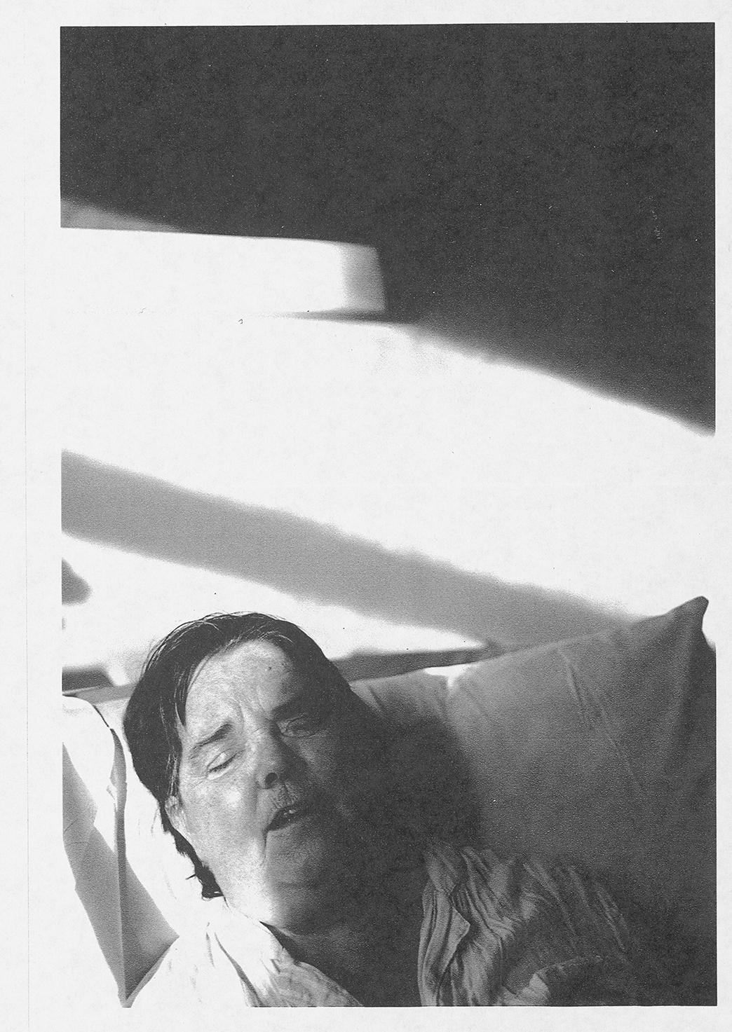Mum Dying ii, laserjet on paper