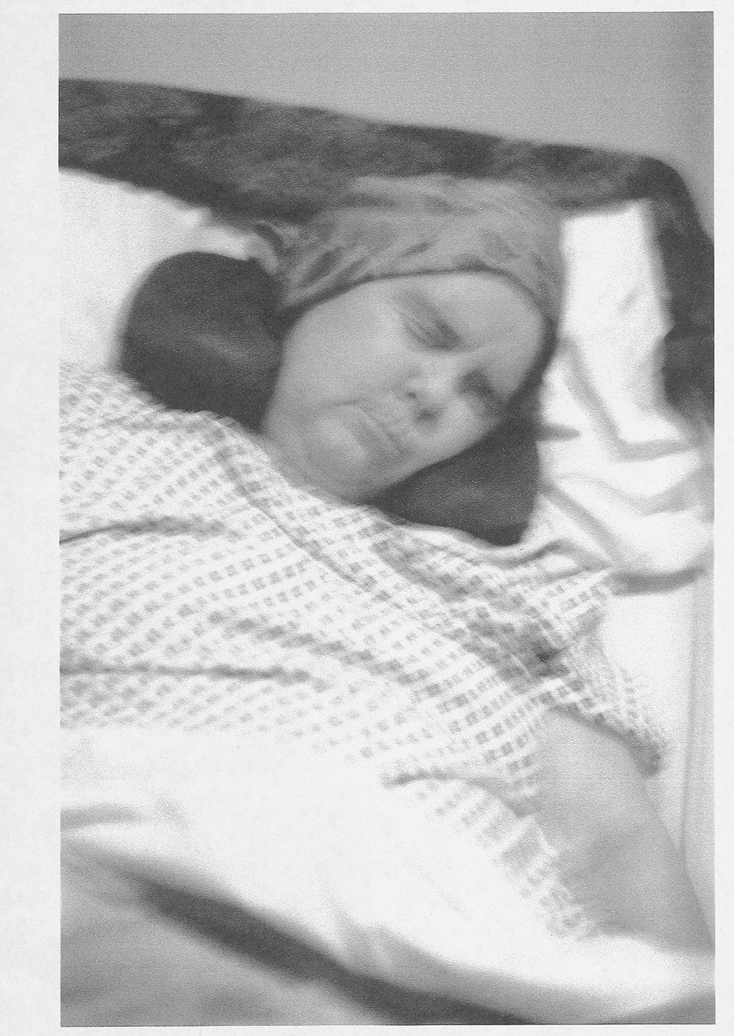 Mum Dying, laserjet on paper