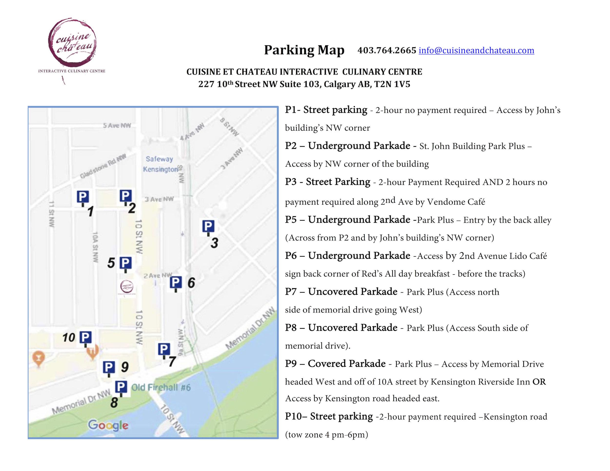 Parking Map Cuisine et Chateau