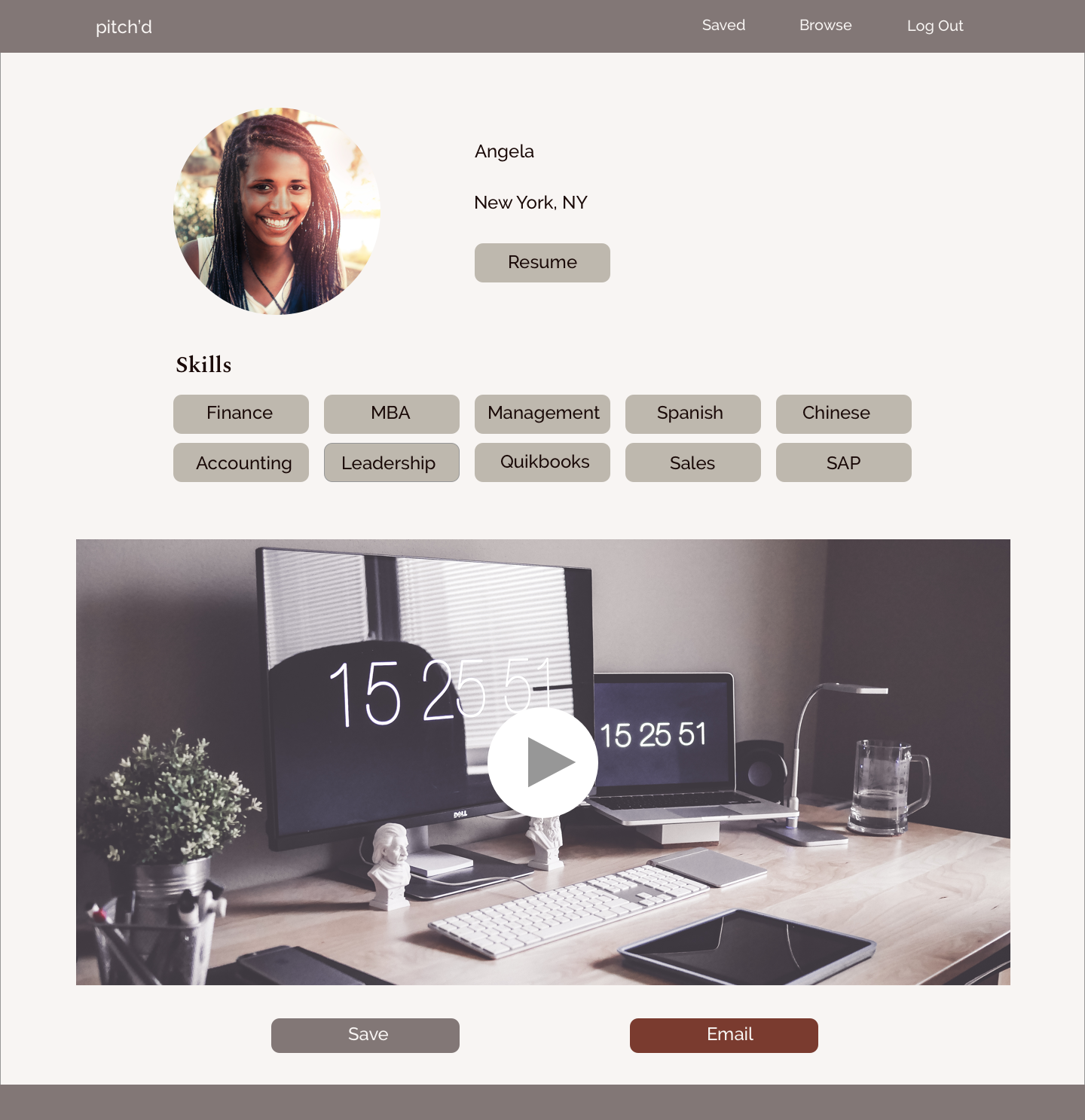 Pitch'd - UI/UX, WEBSITE DESIGN, STYLE GUIDE