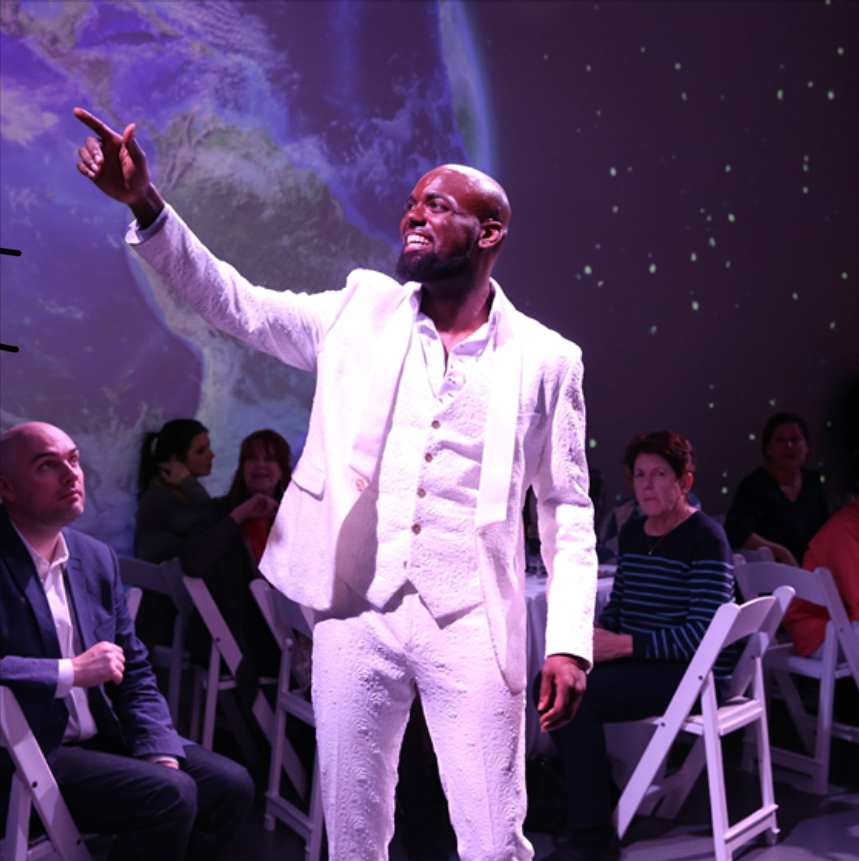 """Terrell Foster-James as """"JR"""" in the new, immersive  Off-Broadway experience called """"Passion Nation"""" Nov./Dec. 2018."""