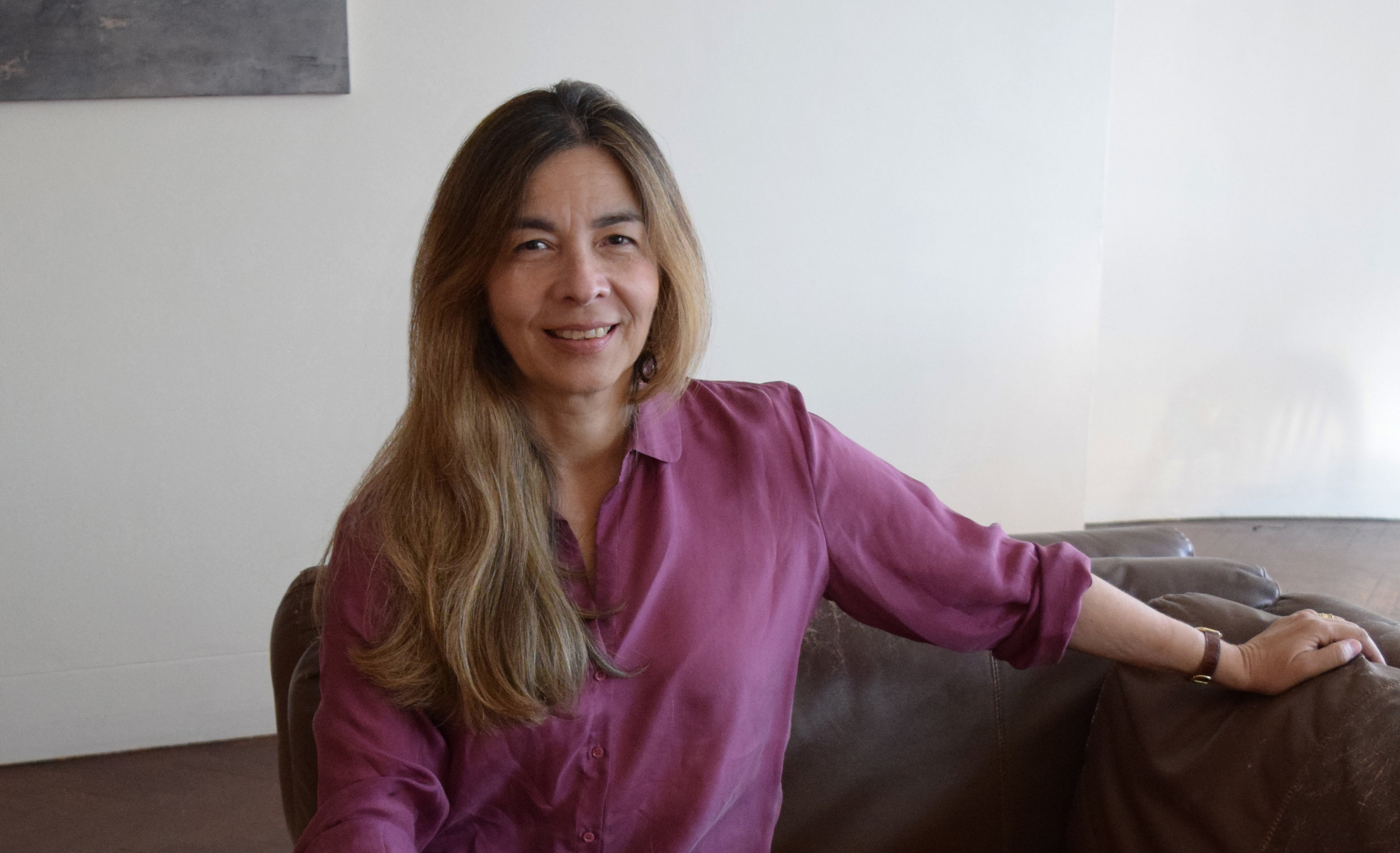 Gómez in her New York apartment, 2016.