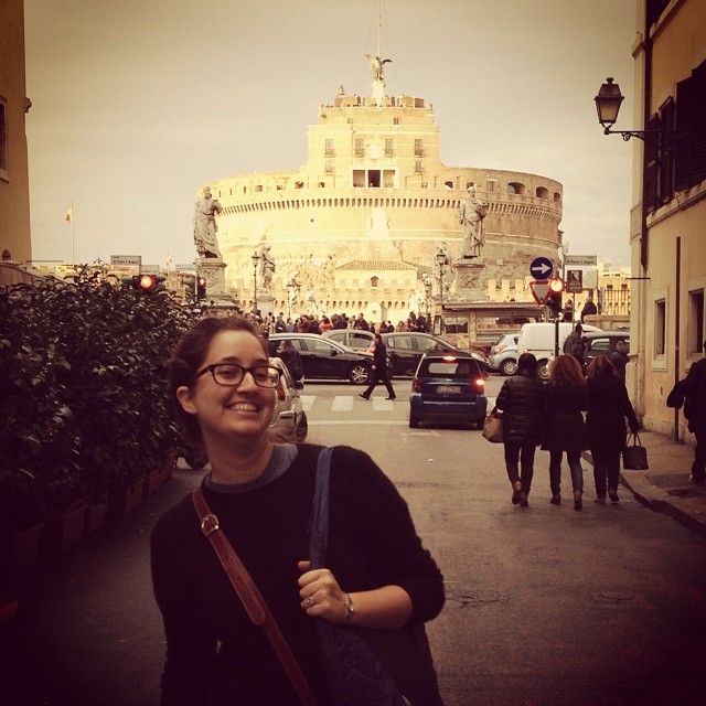 Me in front of the Vatican on an earlier trip. It was during this exact afternoon that I knew we'd be back!