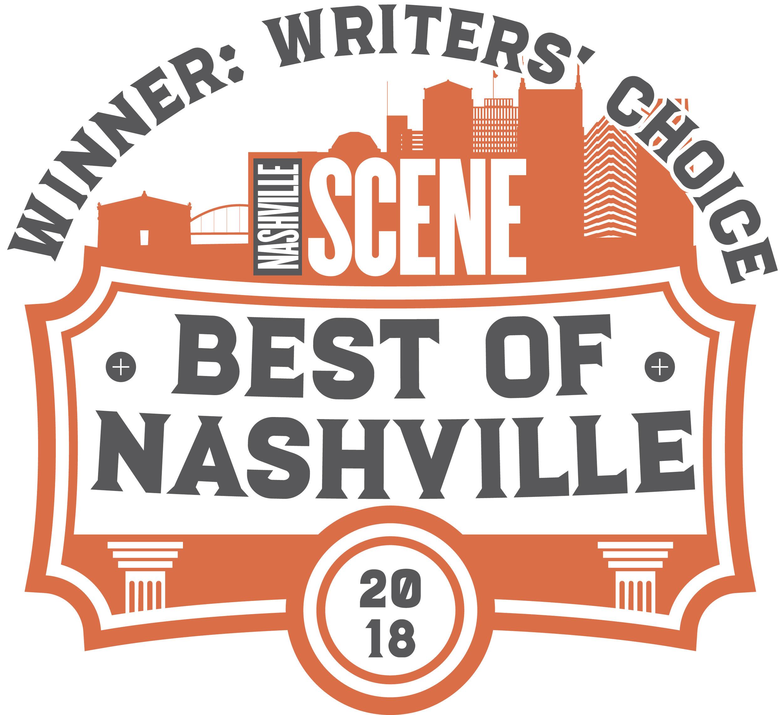 Nashville Scene's Writers' Choice Winner for Best Pilates Studio -
