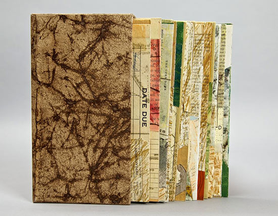 Official Discards - 2009.Mixed Media: book covers & papers,ink, thread .