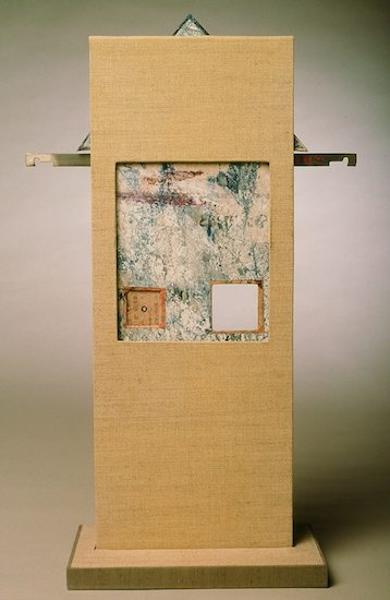 Upon A Time THere Was NO TIME ONCE - 2000.Mixed Media Clamshell Box Constructions: book board & cloth, found objects, paper