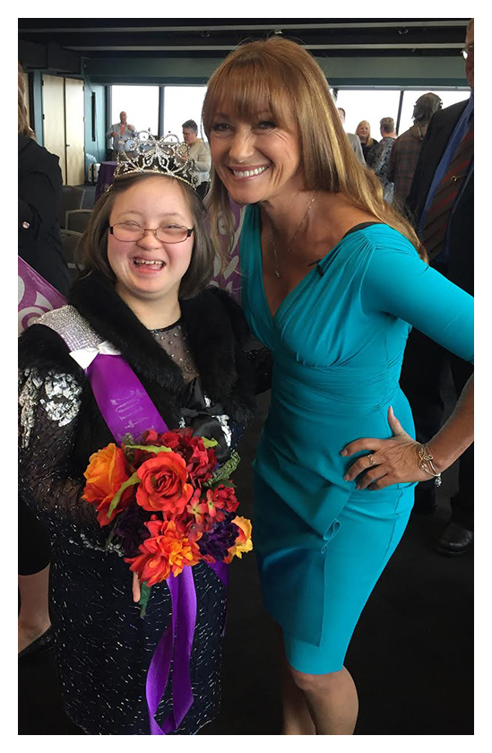 Jane Seymour at Butterfly Dreams foundation, a non-profit organization that provides events and pageants for individuals who are differently-abled