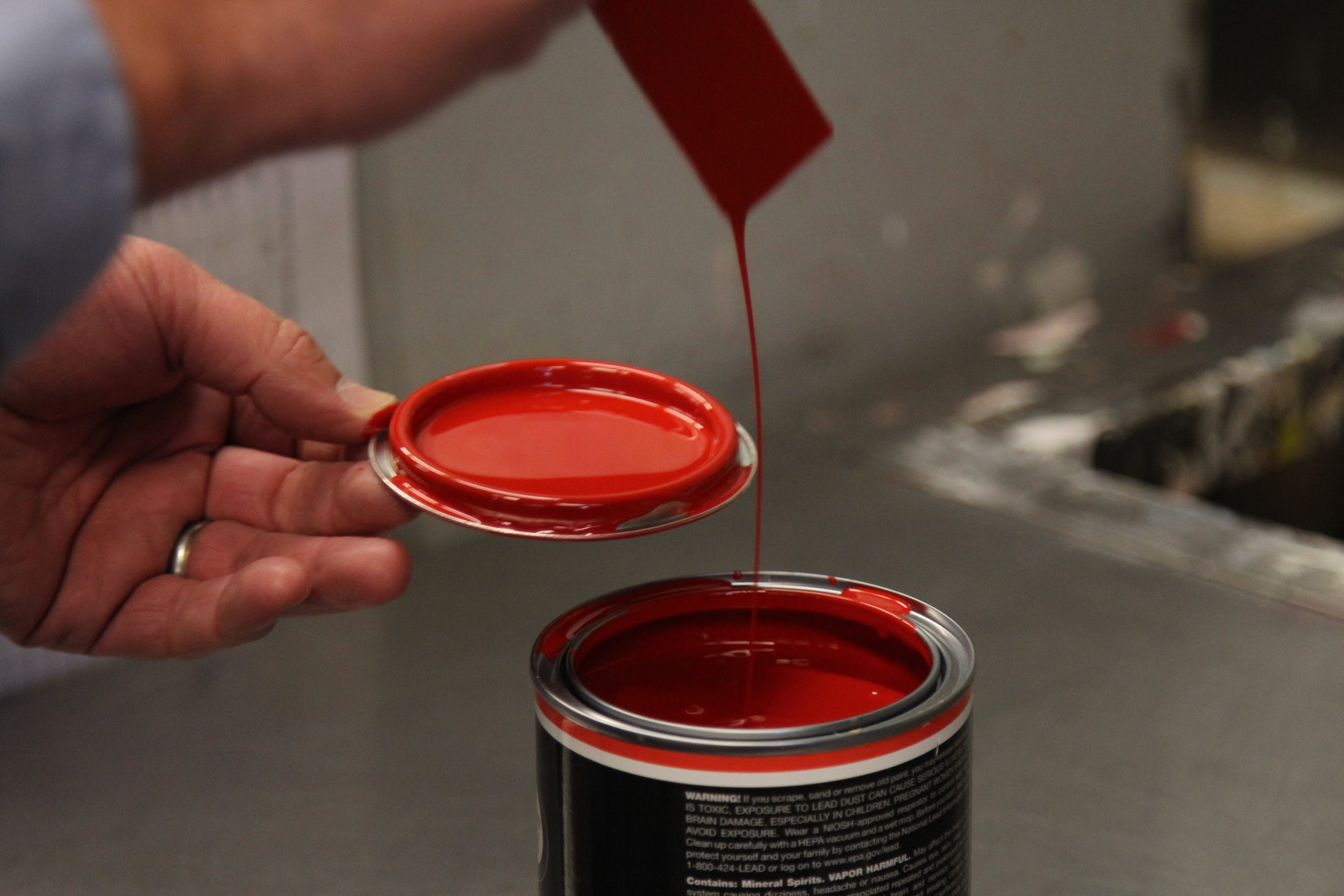 Fine Paints of Europe color red