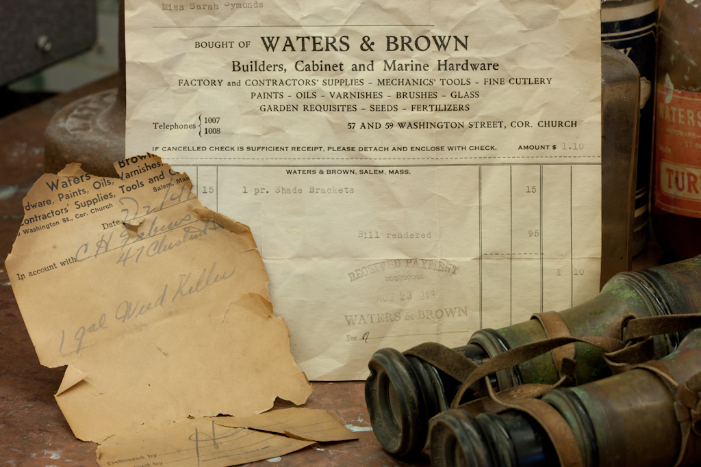 Waters and brown receipt