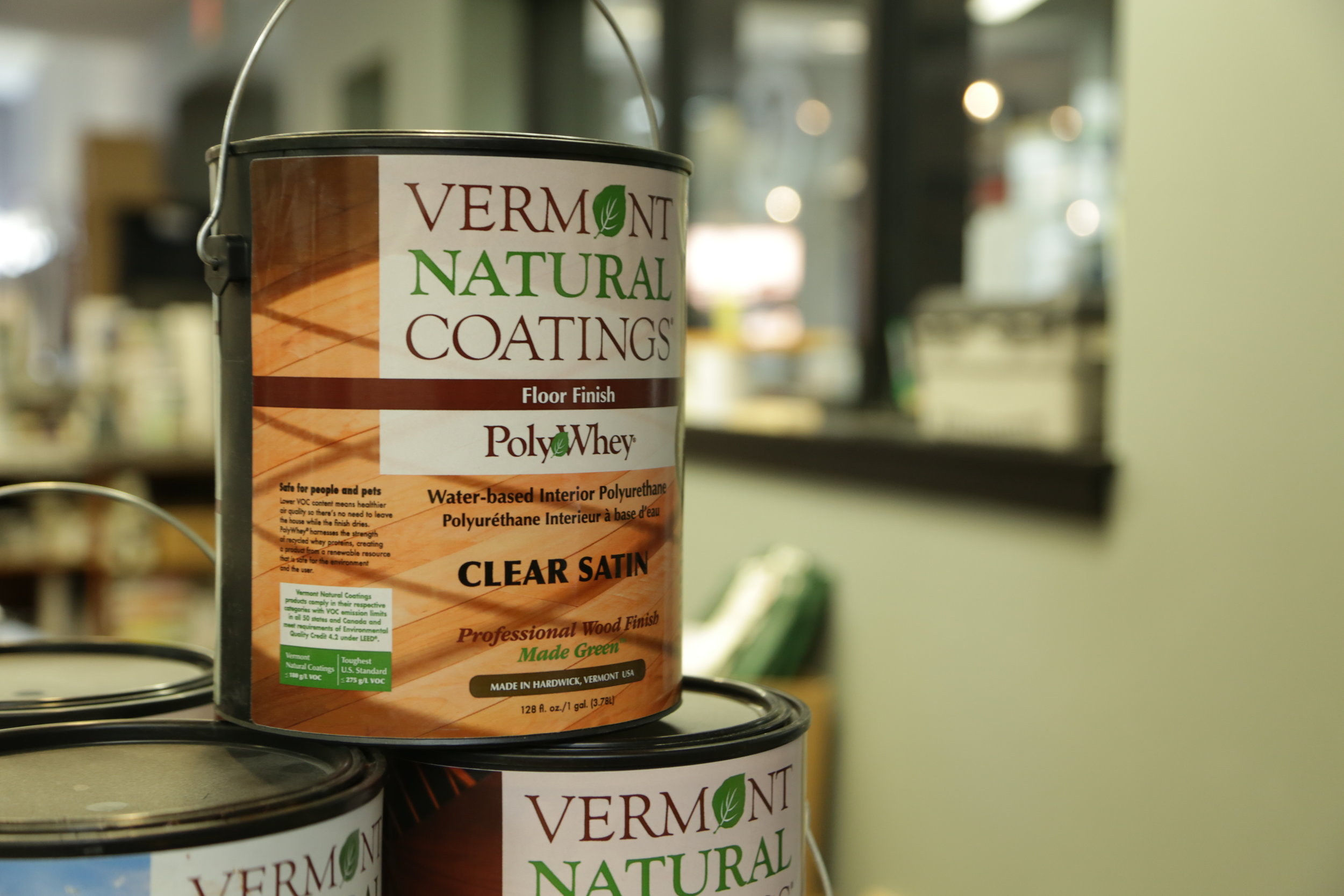 Vermont Natural Coatings  Vermont Natural Coatings has created a new category of wood finish called PolyWhey. It has durability of oil-based finishes and the advantages of water-based finishes.