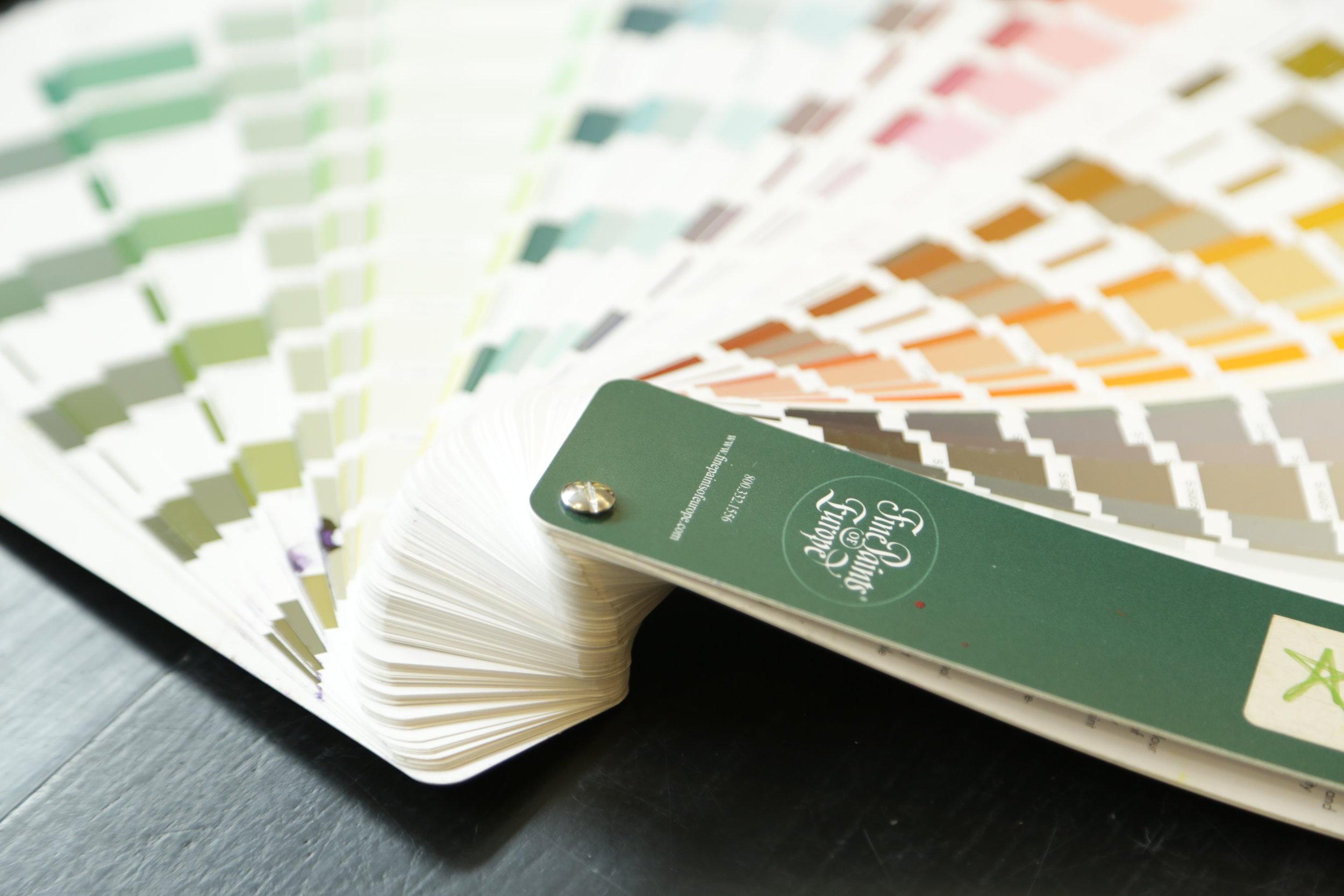 Fine paints of europe paint color deck