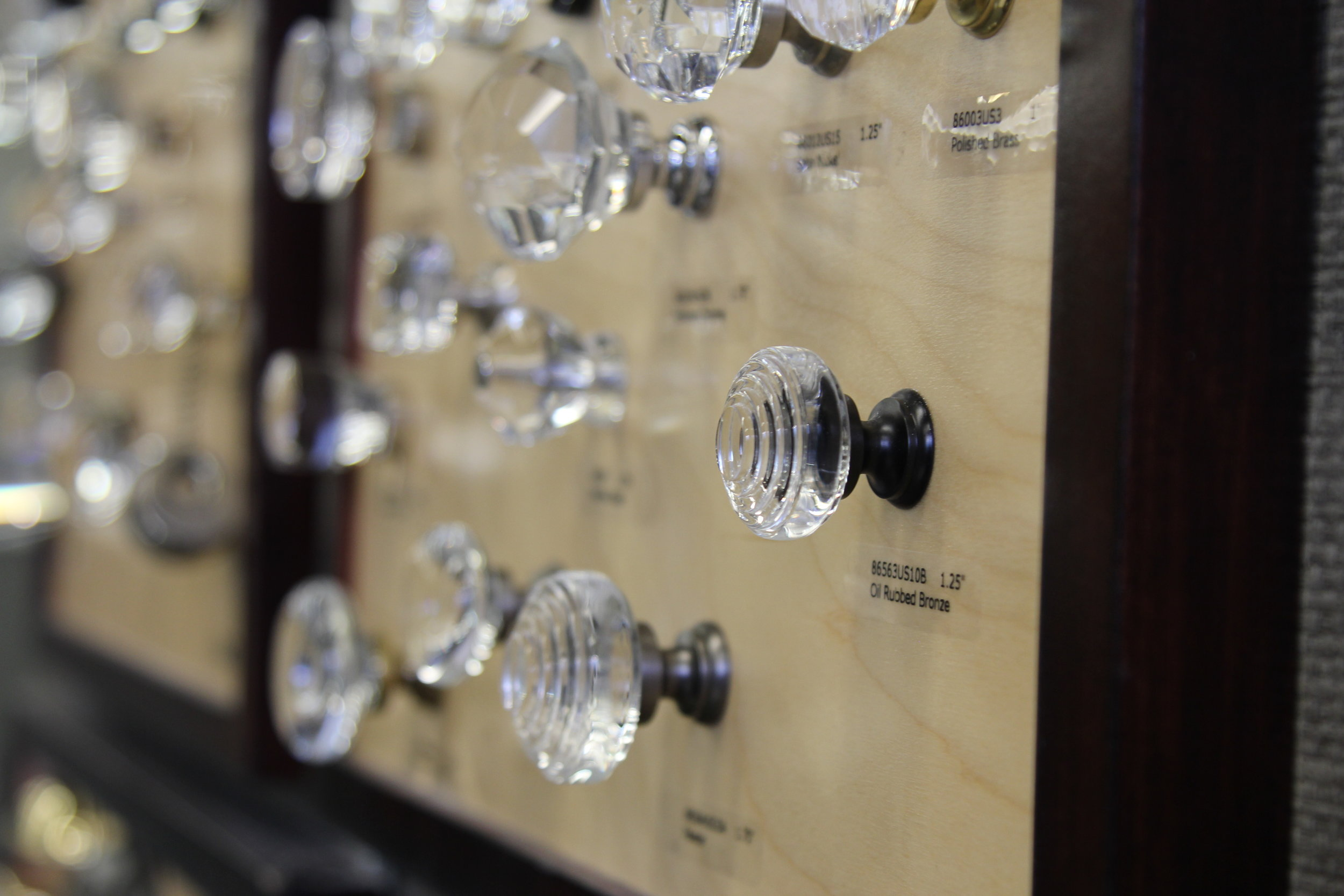 emtek glass knobs