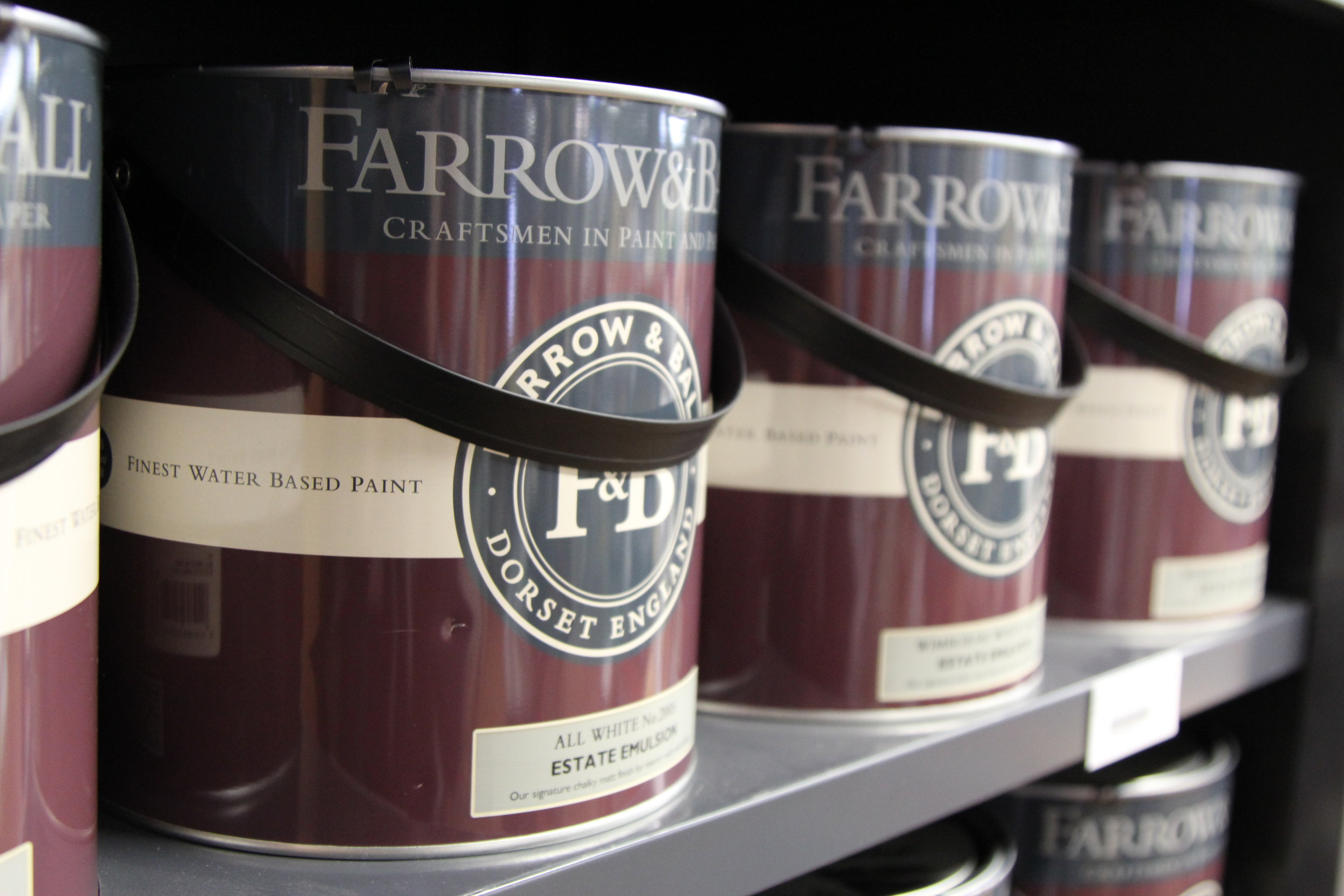 Farrow & Ball  Farrow & Ball is dedicated to creating unmatched paint using only the finest quality ingredients. Still made in Dorset, England, home to Farrow & Ball since 1946, its distinctive paint colors are renowned for their depth, bringing walls to life.