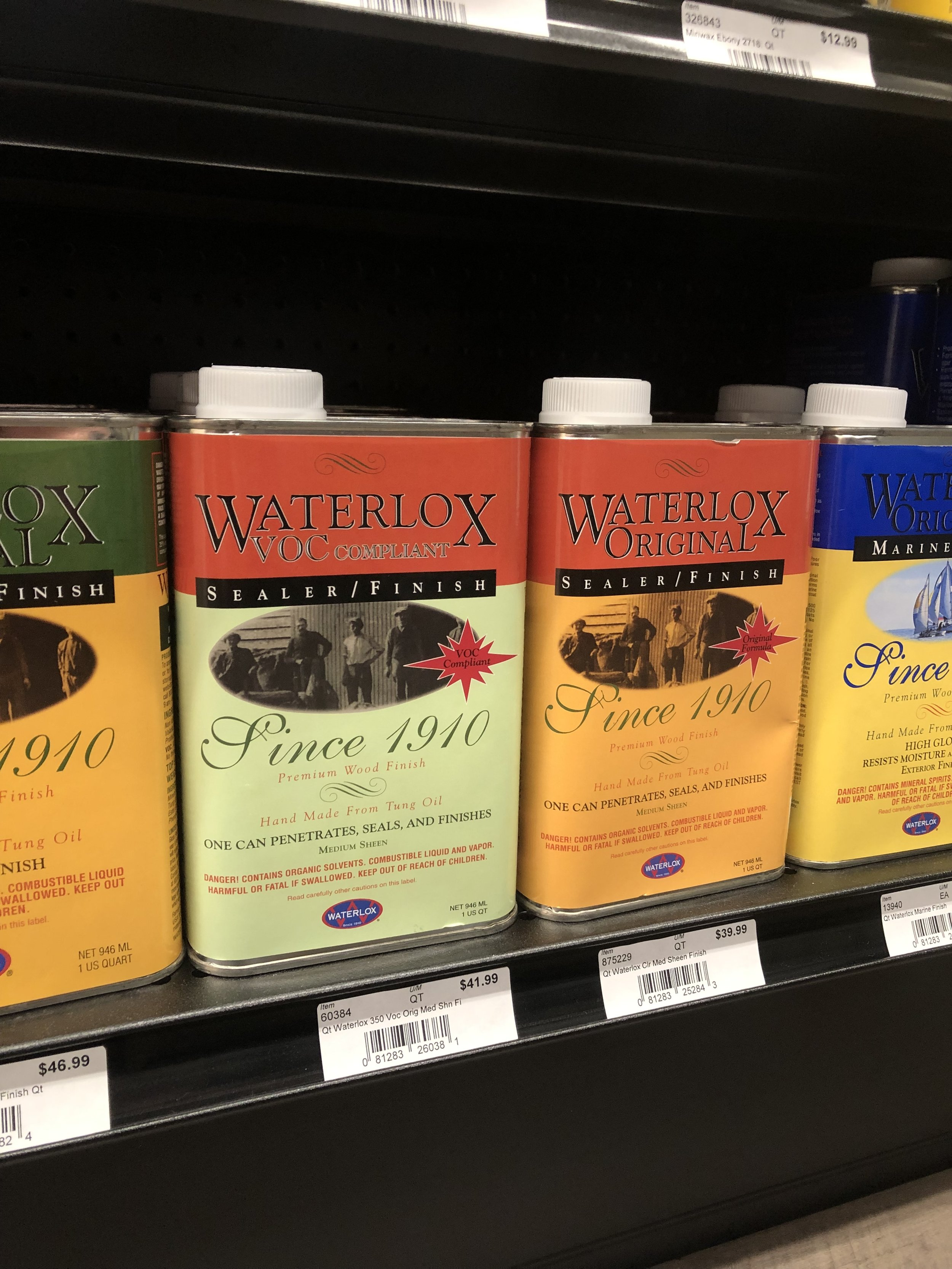 Waterlox  Waterlox sealers and finishes protect and enhance any wood including floors, countertops, furniture, and specialty woodworking. Waterlox has also developed an outdoor formula ideal for boats.