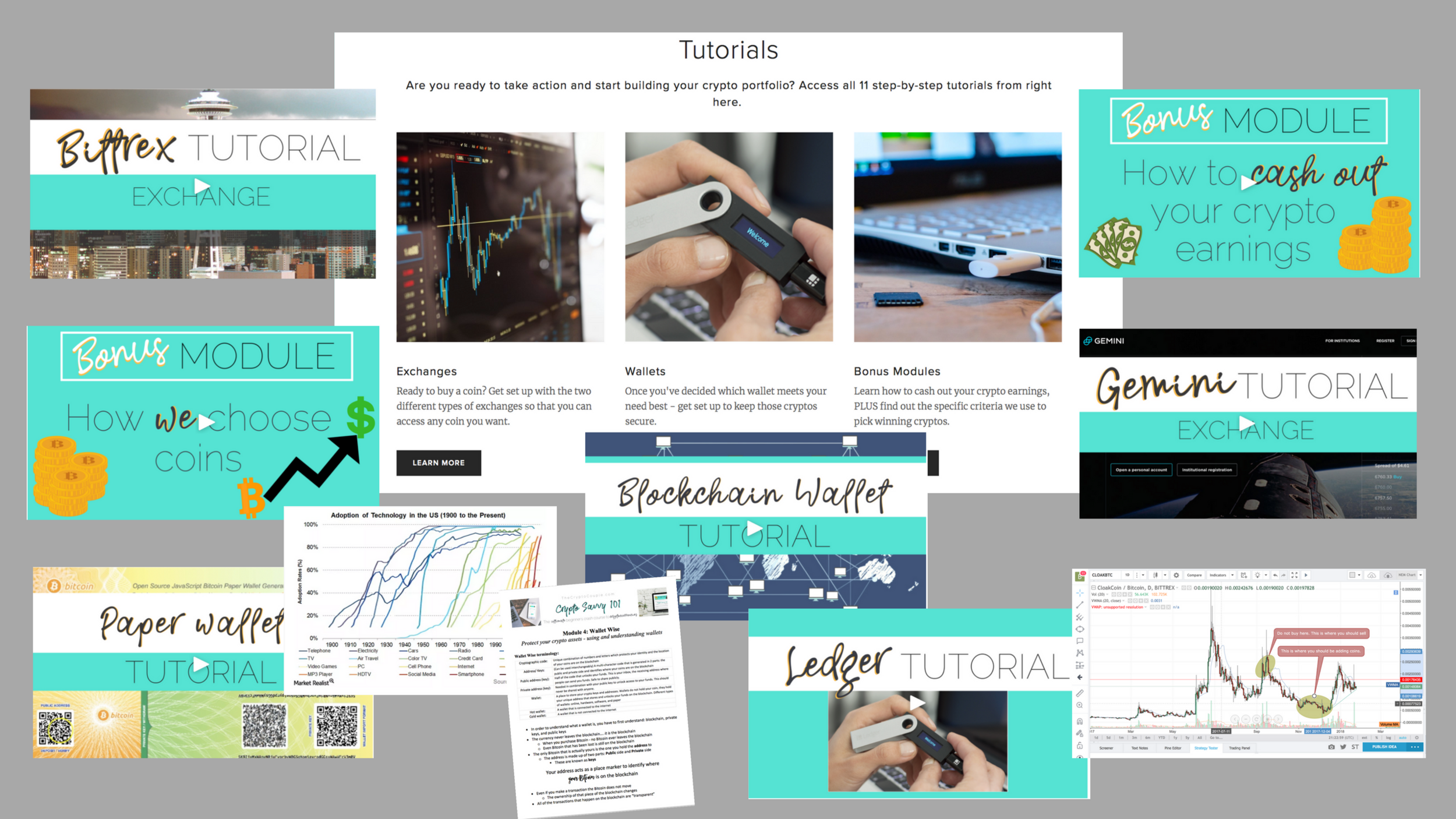 11 Step-by-Step Tutorials - After you've got the basics down take action with confidence by following along with a step-by-step tutorial for every technological platform covered in the course.