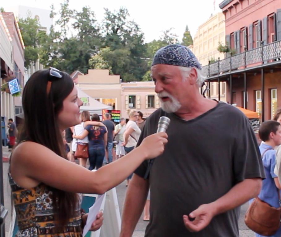 Conducting crypto street pulse interviews in Nevada City, California