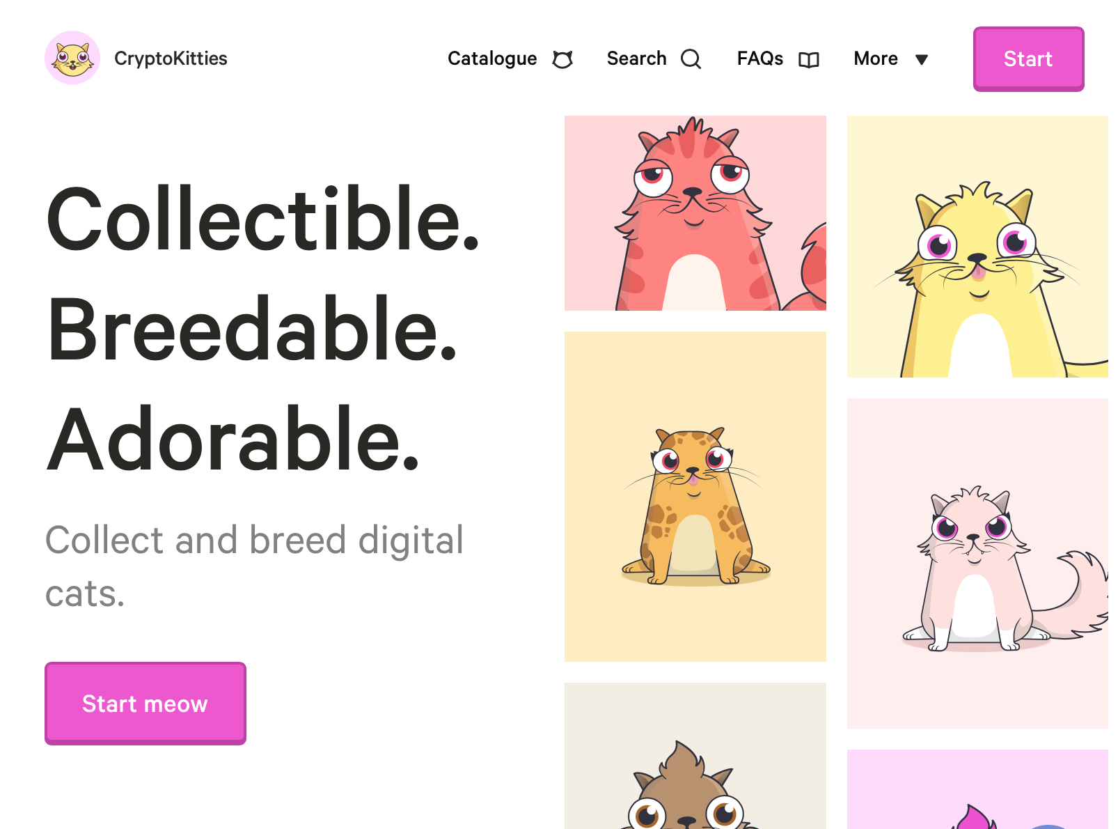 Crypto kitties -Ethereum's most successful Dapp to date.