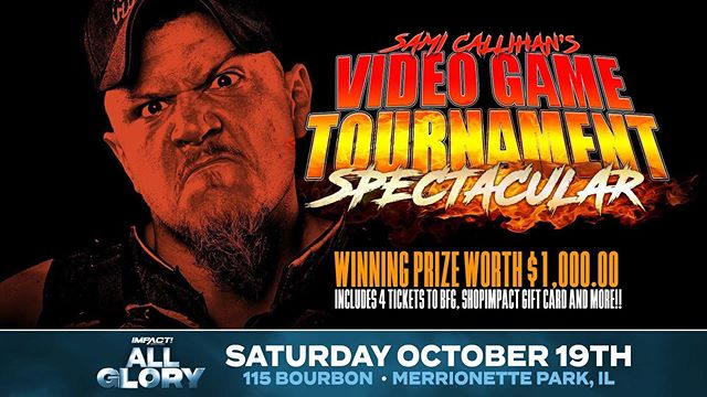 All Glory will feature an EPIC video game tournament hosted by the one and only, @officialcallihan! 🕹🔥 . . . Sign up now    https://impac.tw/SamiGames