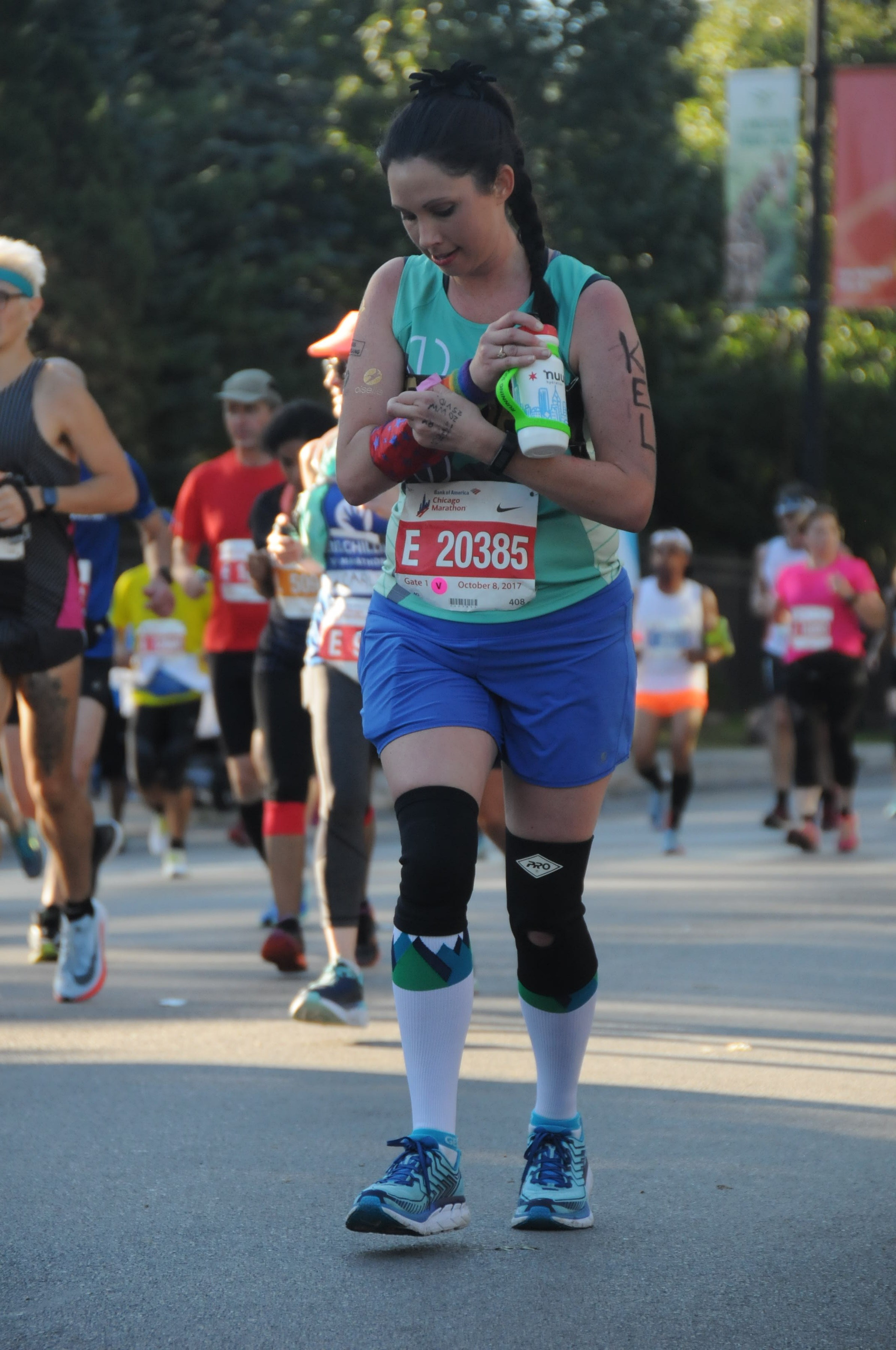 Check out the intensity with which I am running this marathon.... - Did I mention you can fit A LOT of snacks in this?