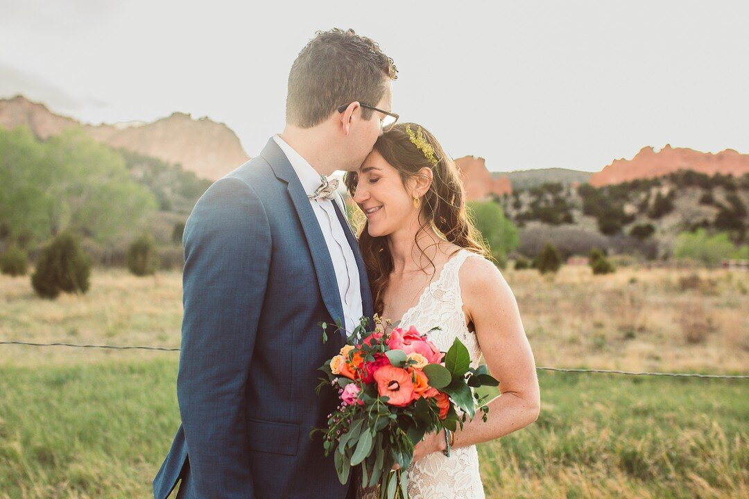 Lauren and Kyle were supposed to get married in Ohio, but like other 2020 brides and grooms, their plans changed and they had a small intimate civil ceremony at Garden of the Gods Park in Colorado Springs.