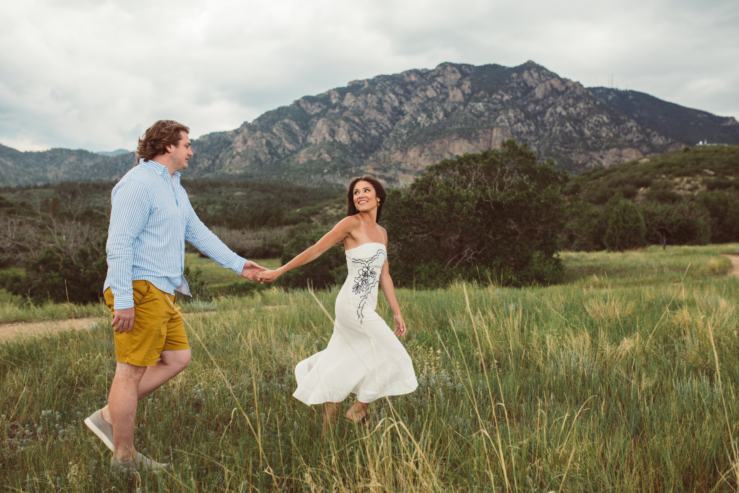 East Coast natives, Jordan and Tyler, recently moved to Colorado Springs and wanted to capture the essence of the new city they live in with  engagement photos  at Cheyenne Mountain State Park.