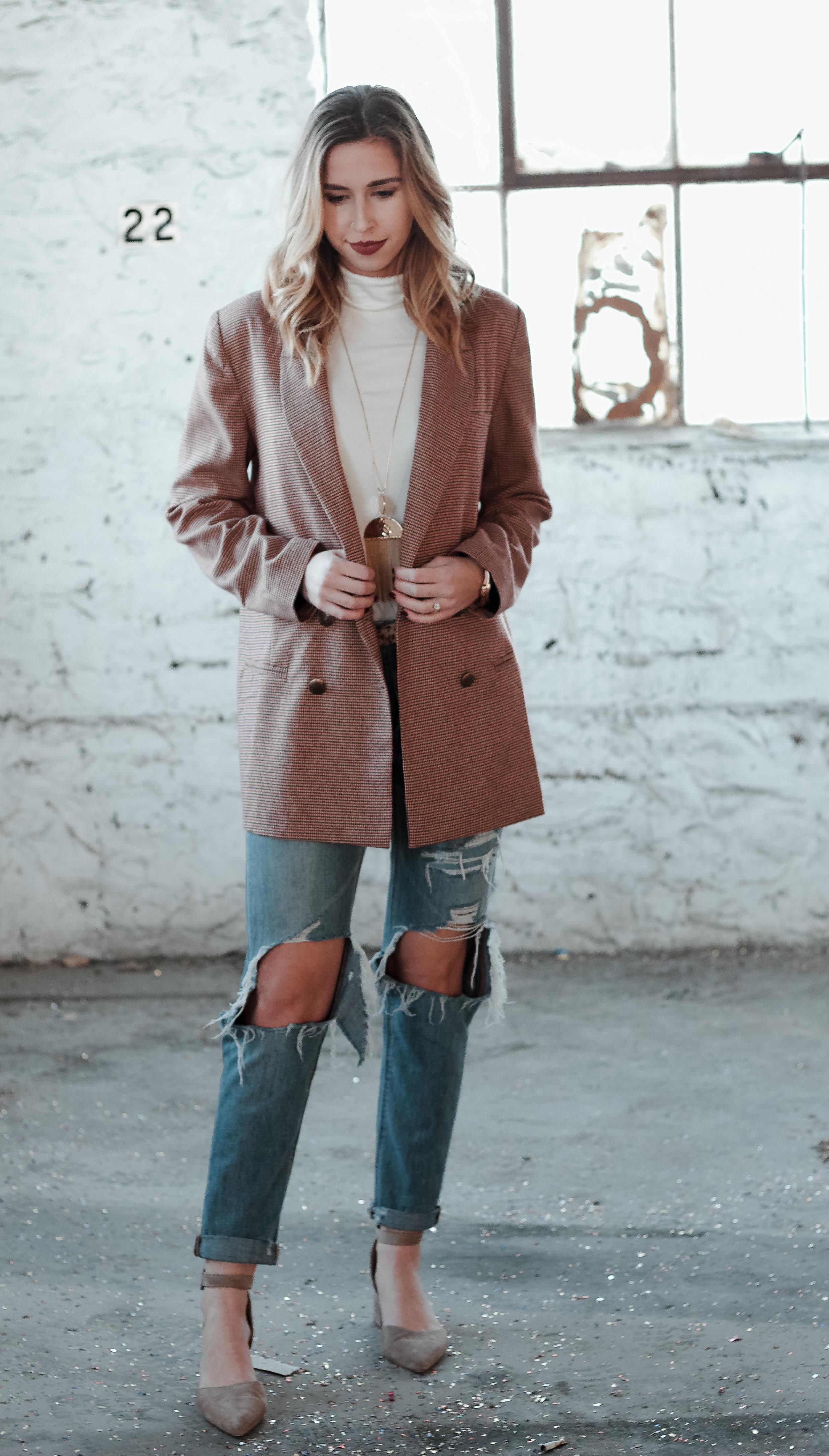 Plaid Blazer   The Simplistic Chic