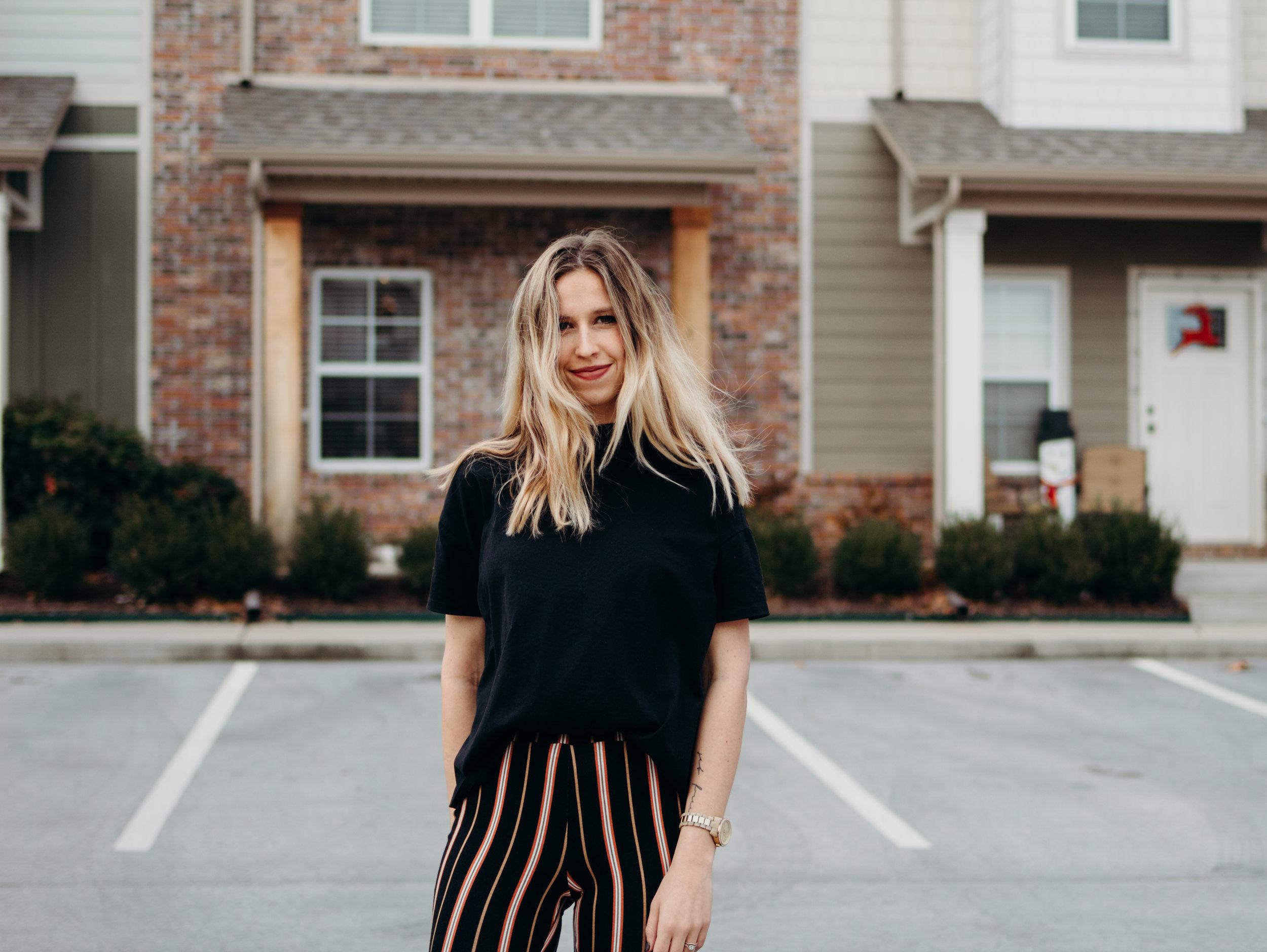 Striped Crop Pants   The Simplistic Chic