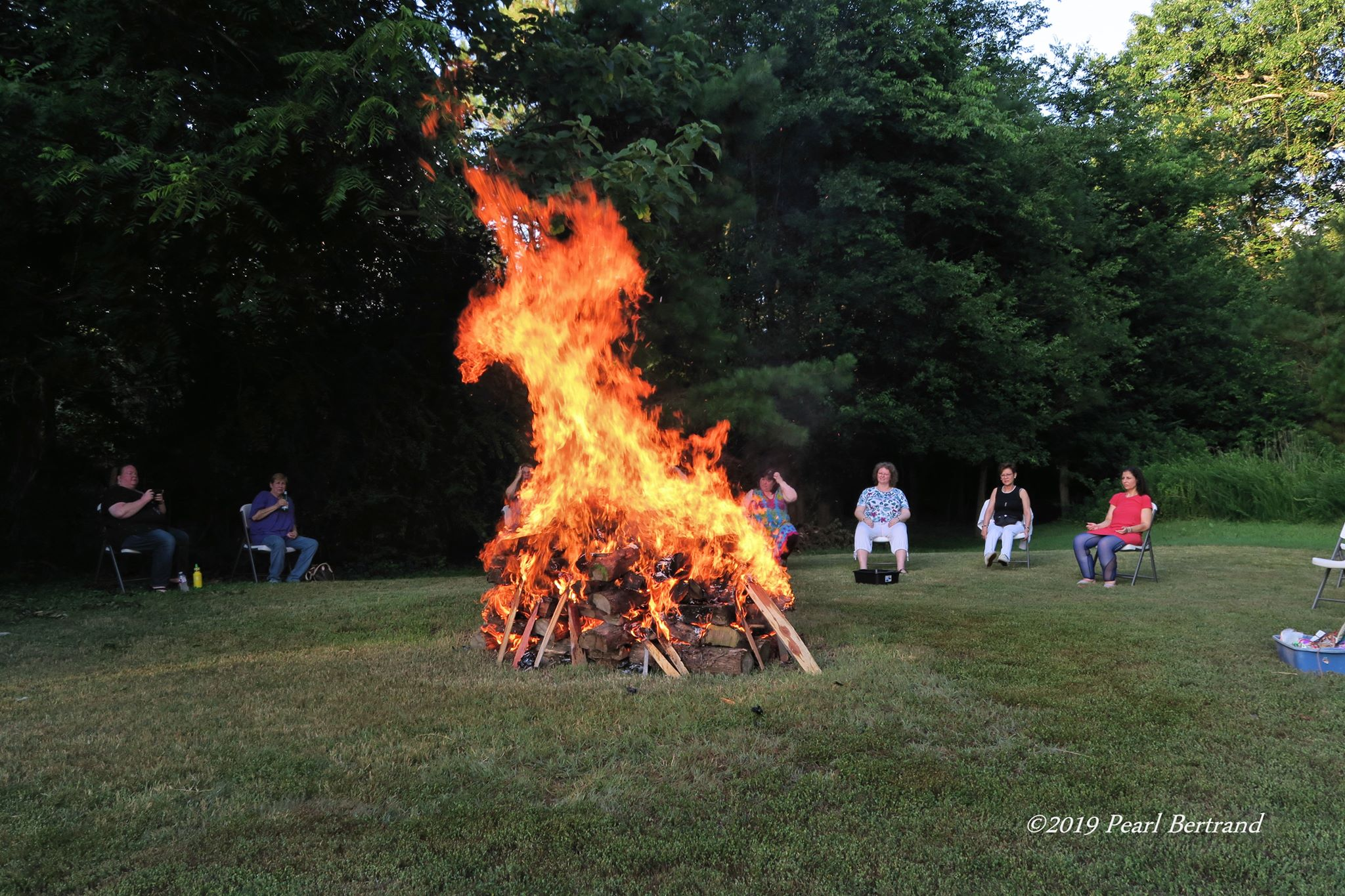 Image of a Fire Dragon by Pearl Bertrand from our firewalk July 13th, 2019