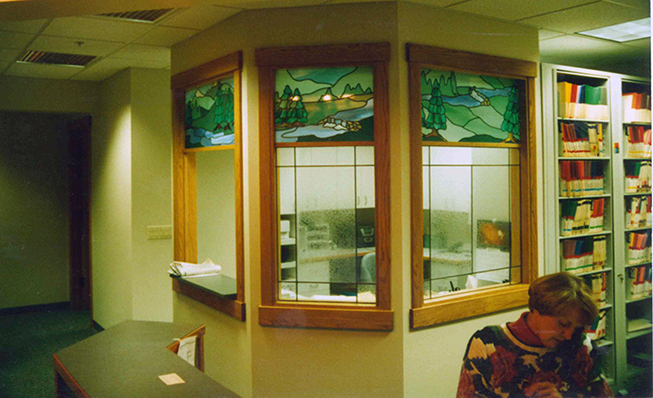 Glass design for privacy and decor doctor's office