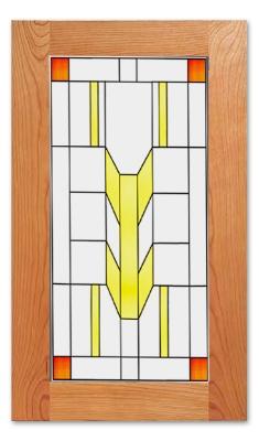 Prairie Cabinet Glass Insert