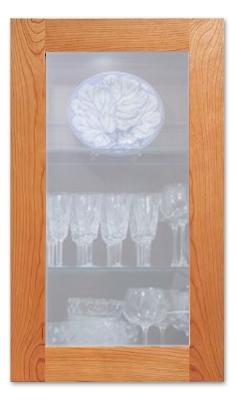Light Frost Cabinet Glass Insert