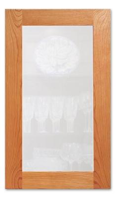 White Dust Cabinet Glass Insert