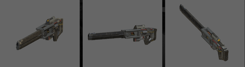 3D model of the New Jericho Sniper Rifle.