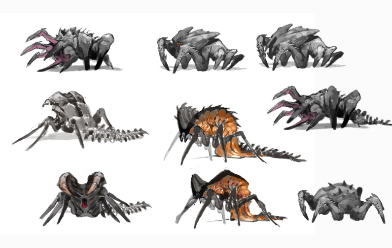 Concepts for the Larva redesign.