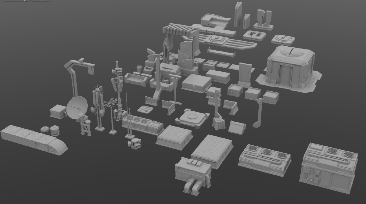 Just a small selection of prop assets from a New Jericho map