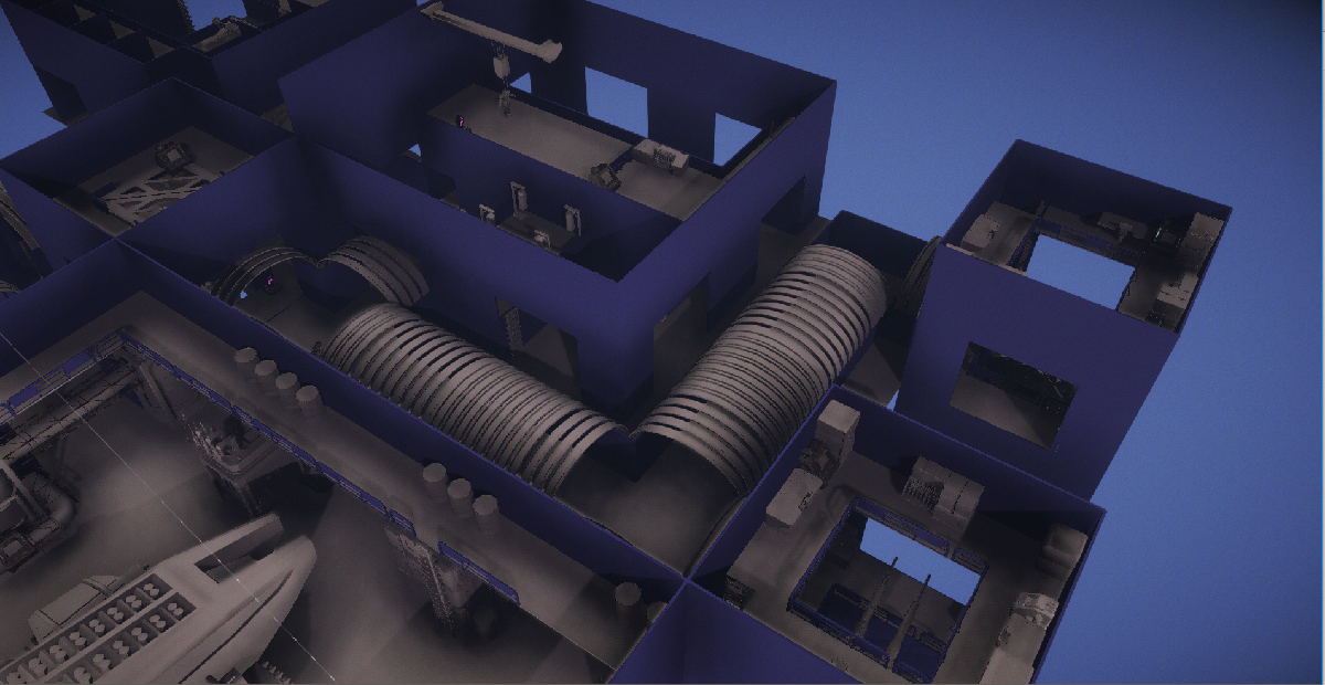 An early un-textured version of a Phoenix base layout in the tactical layer