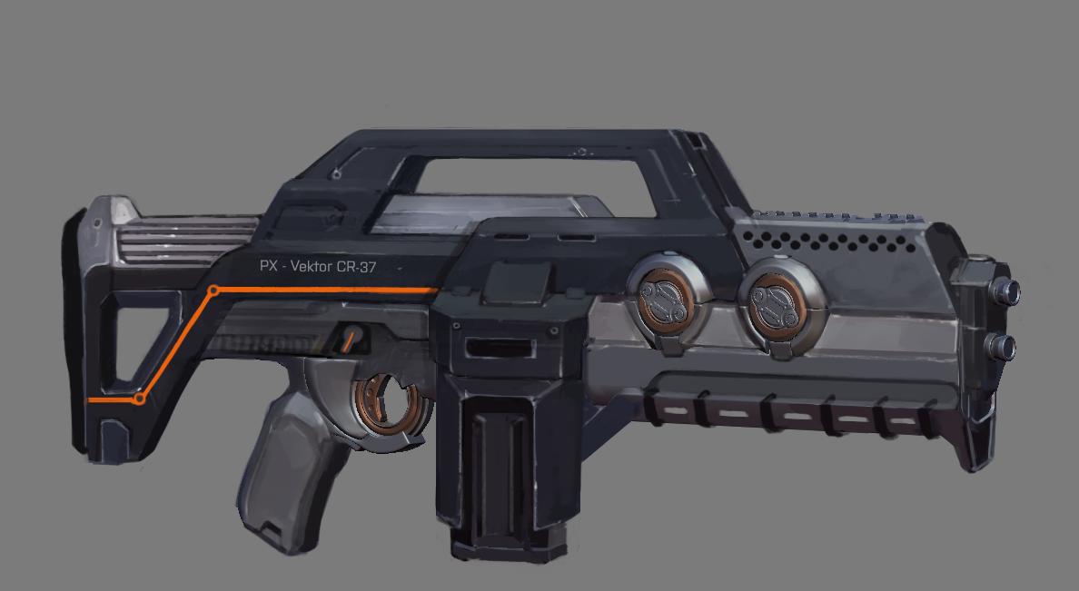 Concept art for the Phoenix Project Assault Rifle