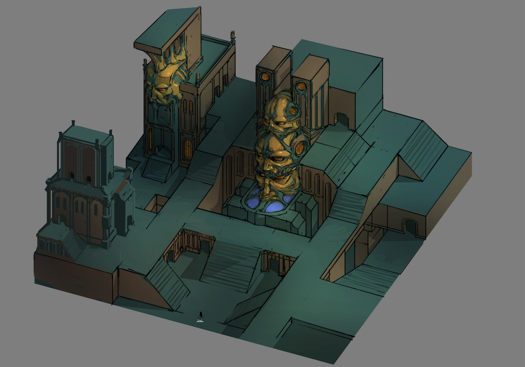 An early temple district concept