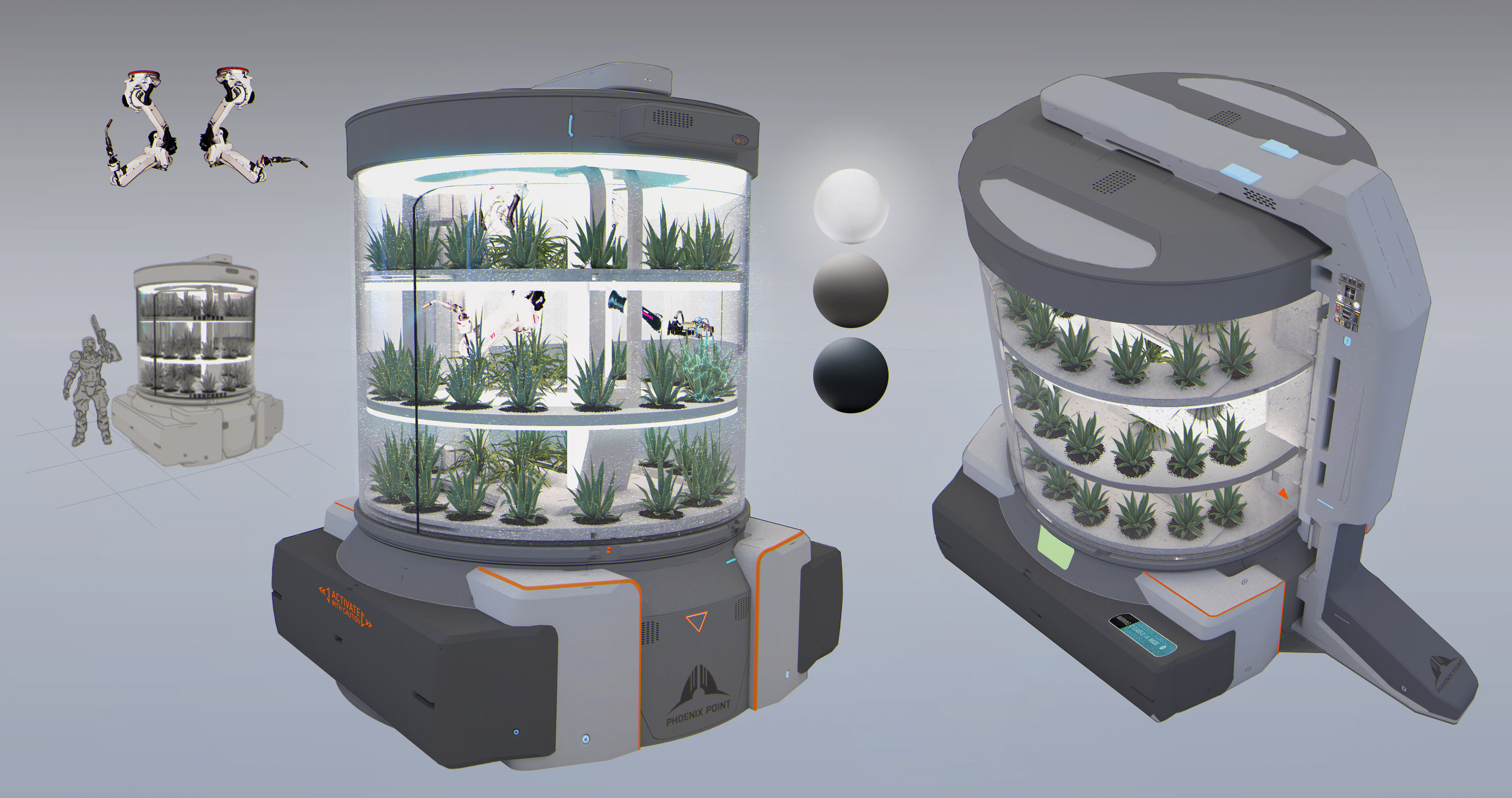 Another hydro vegetation chamber concept