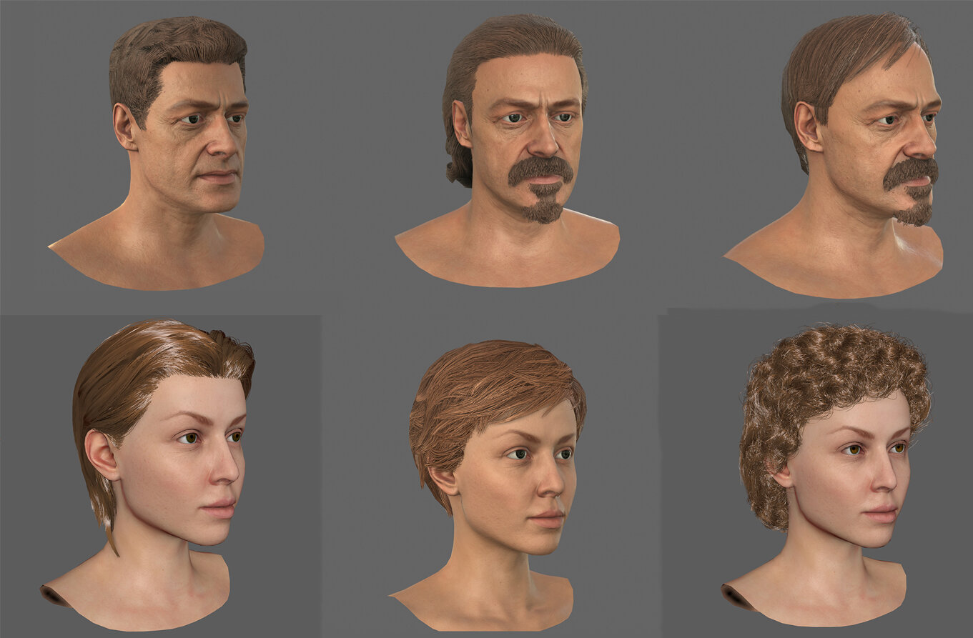 Some examples of facial customisation
