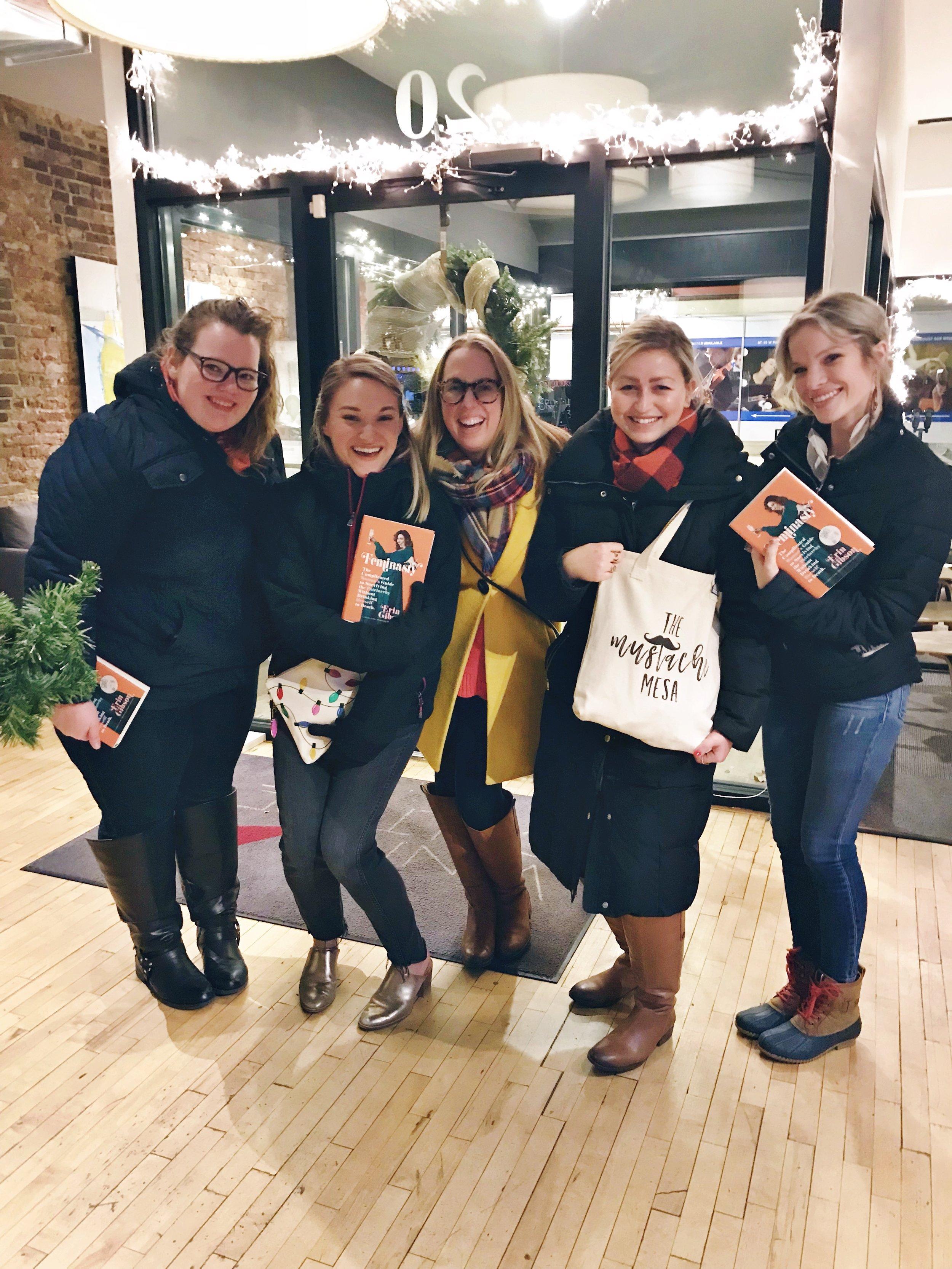 The Mustache Mesa reads Feminasty Dec 2018 Book Club
