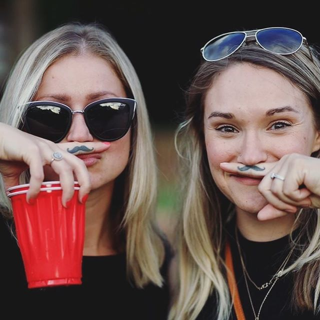 spotted in the wild, two girls with matching mustache tattoo who believe in fueling the body, feeding the soul, and JUST FEELING GOOOOD 🤘🏻〰️😎 📸 c/o @nardcam #themustachemesa