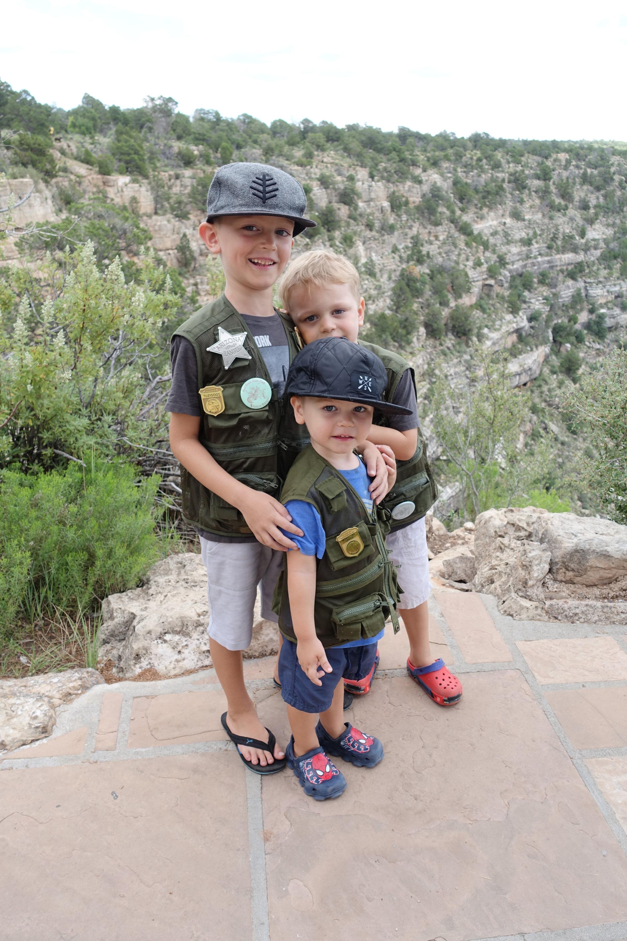 My Junior Rangers - Walnut Canyon Flagstaff Arizona