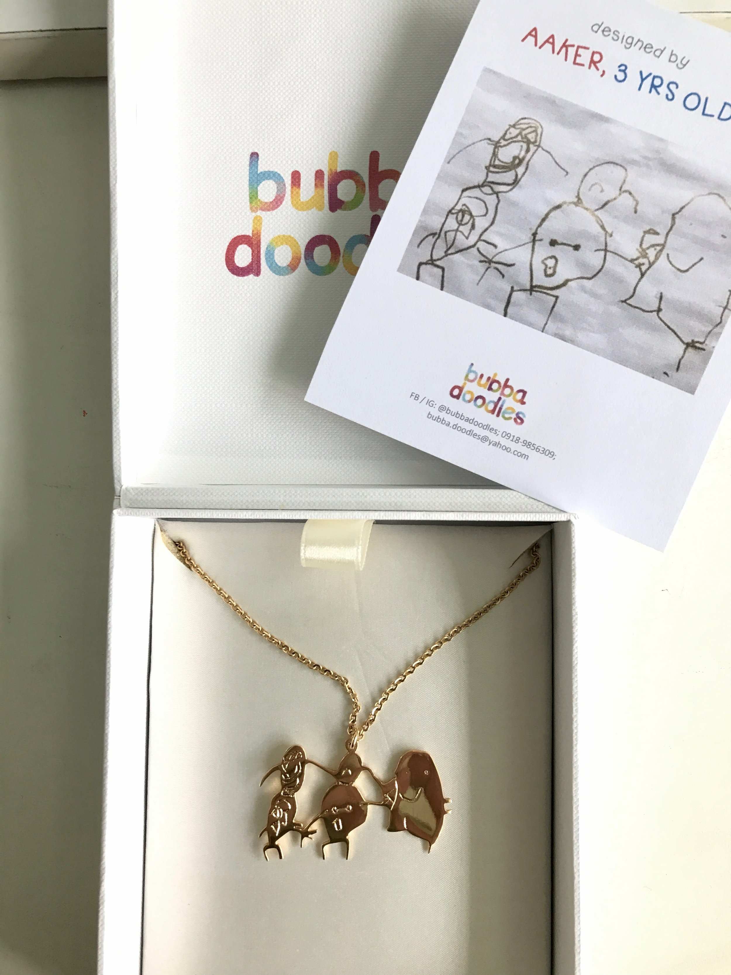 Bubba Doodles - Turn your kids art into wearable pieces! Aaker drew this when he was 3 years old and it is such a treasure to wear around my neck now.