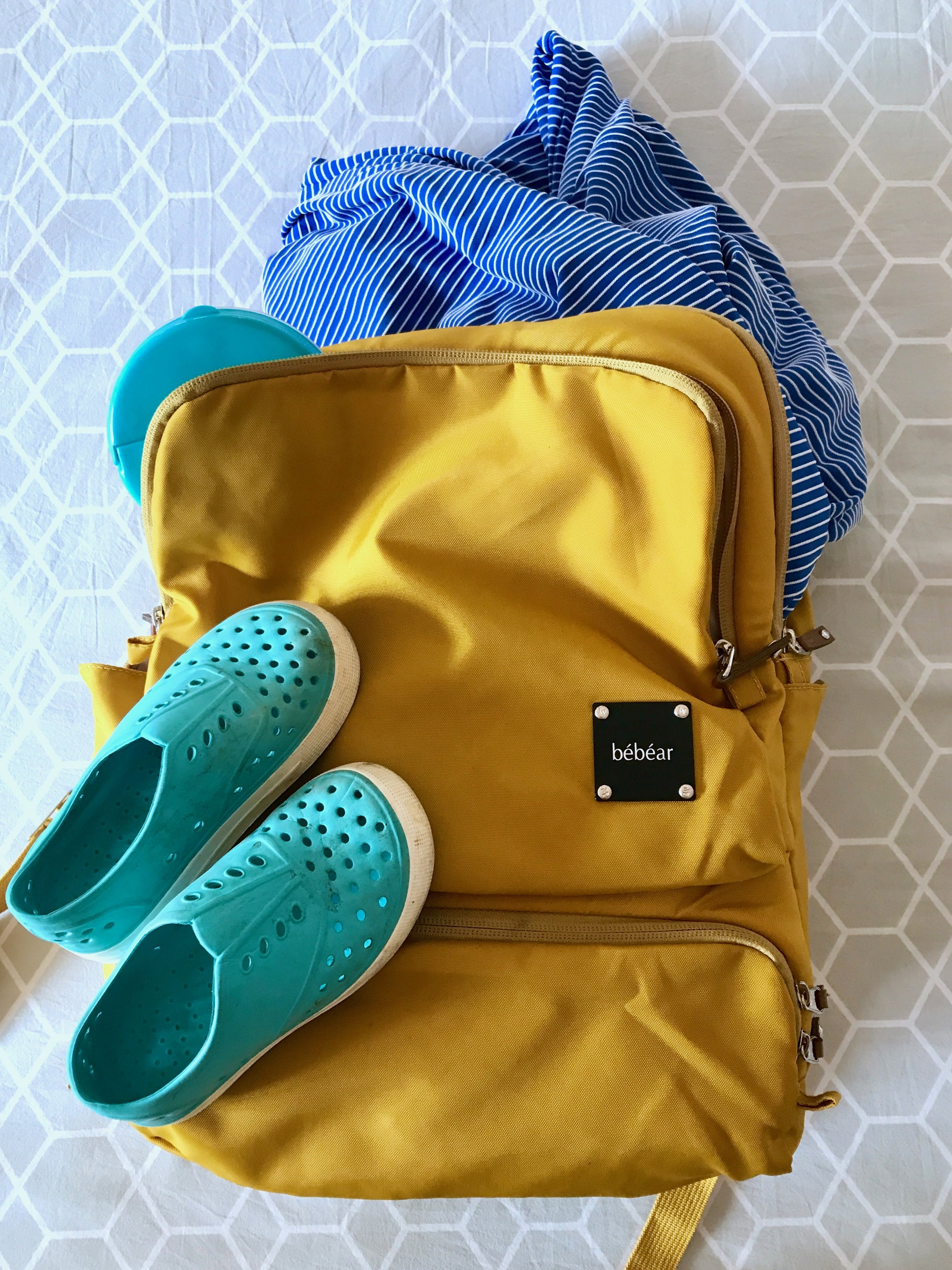 Bebear Backpack - My go to backpack for mums. I happen to win at the event and am so in love! I take to to muay thai, picnics and any other day trips. All you need to know is: pockets galore.