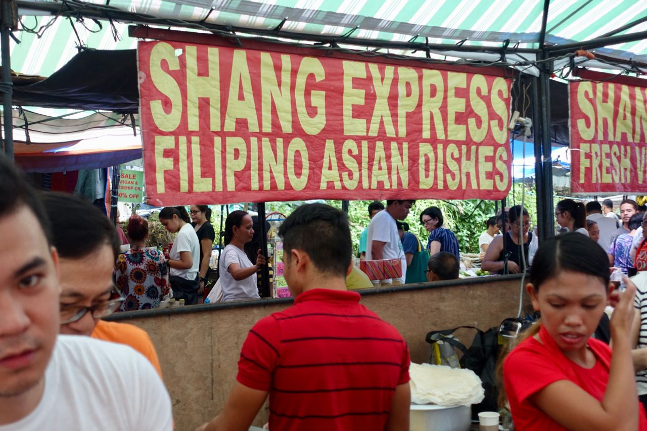 Shang Express - home of the best lumpia and shrimp tempura. Take home for lunch after marketing.