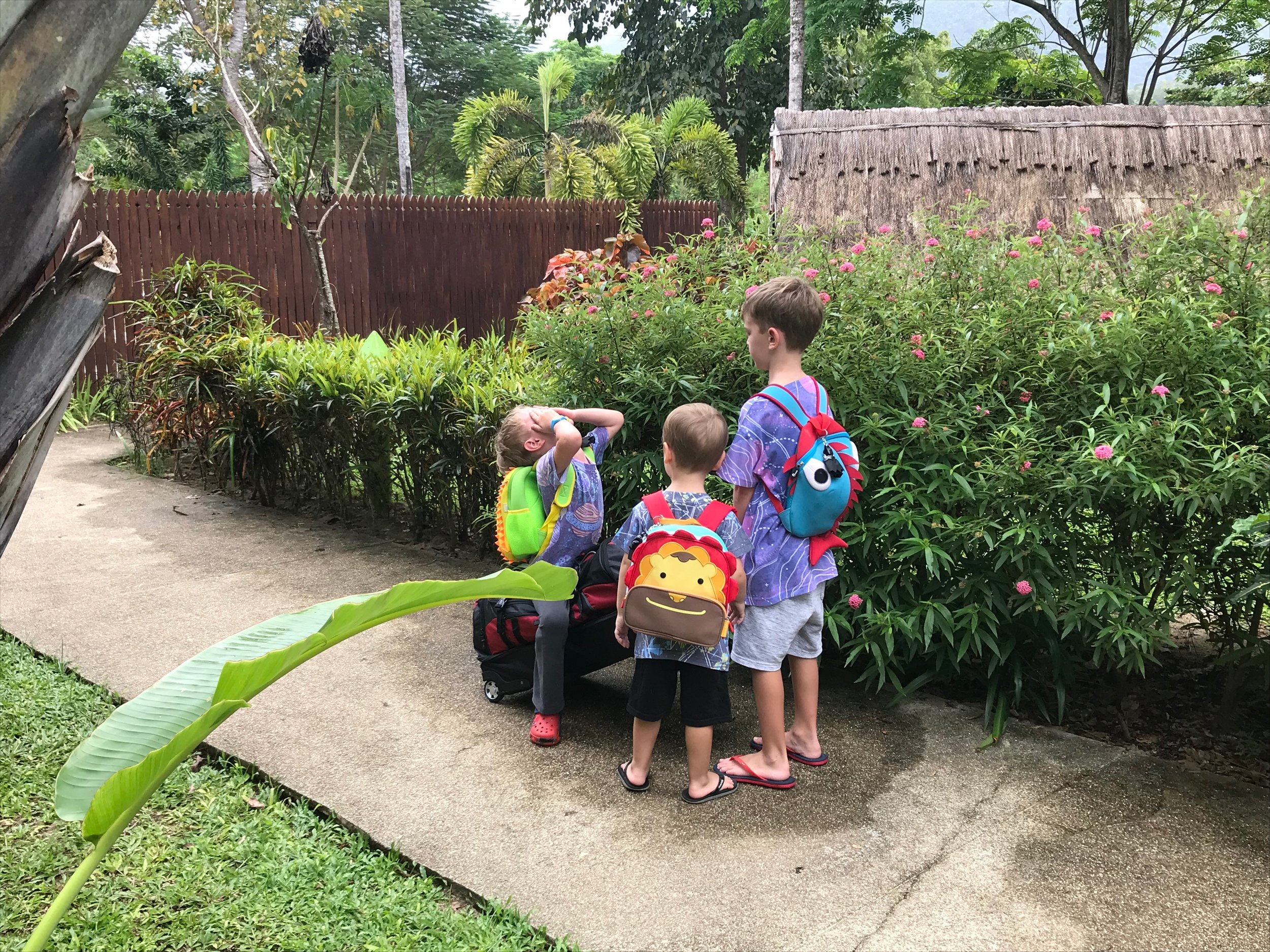 Matchy Matchy - That's right, i treat travel like it's christmas morning and have my kids wear matching clothing while traveling.