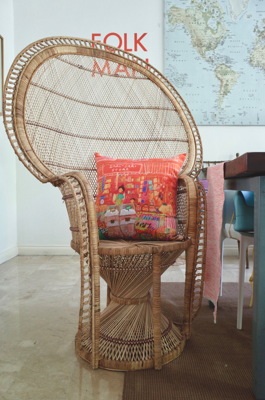 - Sari Sari pillow adds the perfect color and touch of Filipiñana for our happy home.